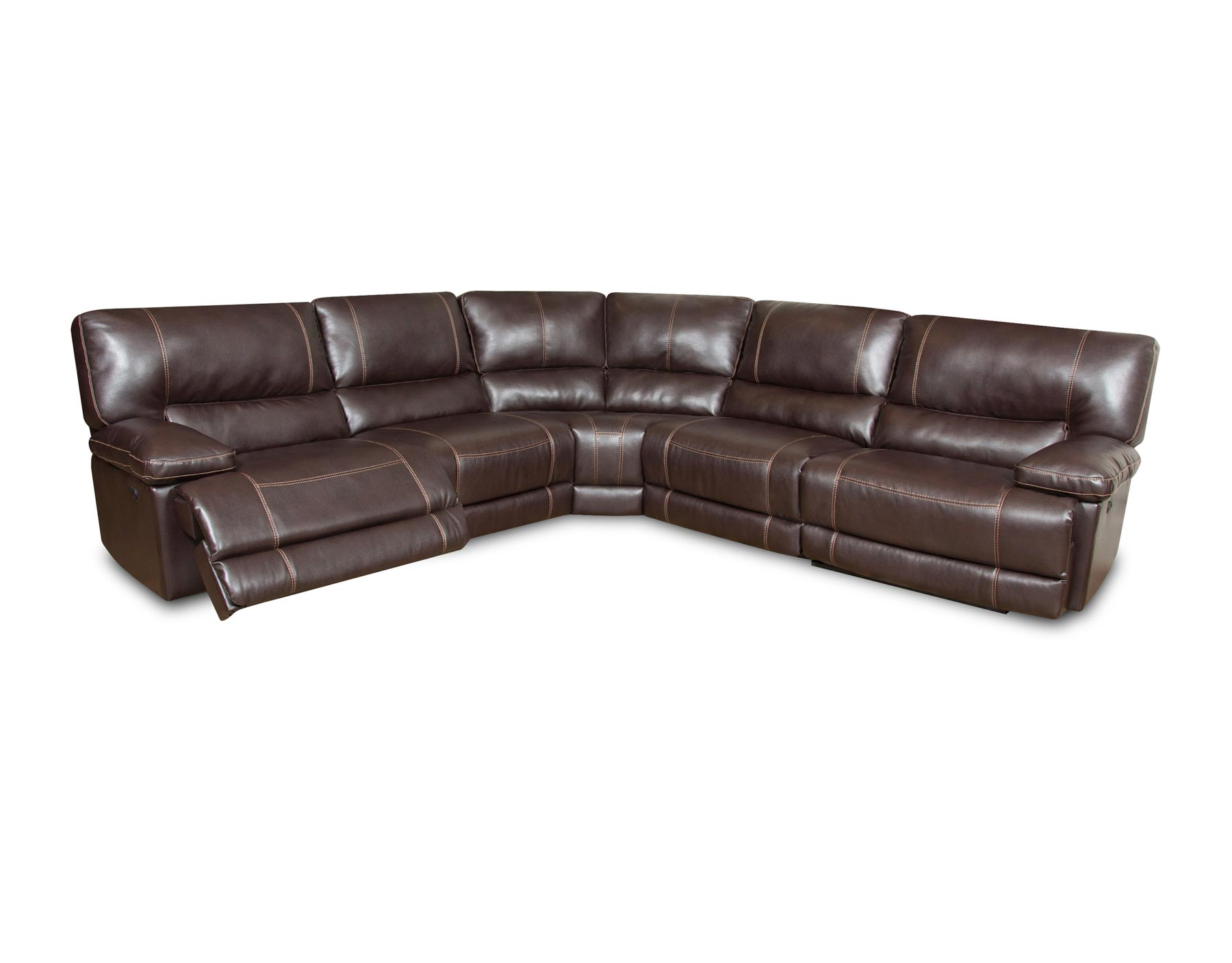 Roman Chocolate 6 Piece Sectional Gonzalez Furniture