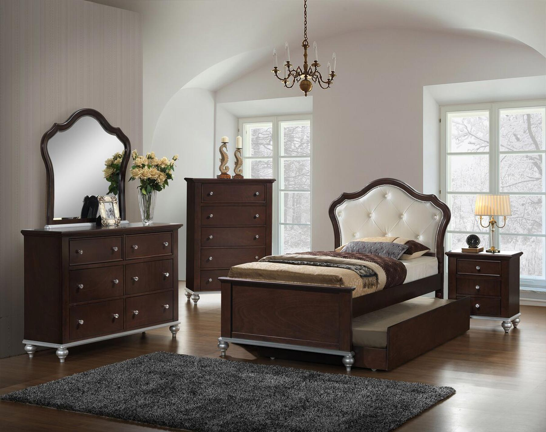 allison youth 6 piece twin or full bedroom set gonzalez 13894 | al300 allison