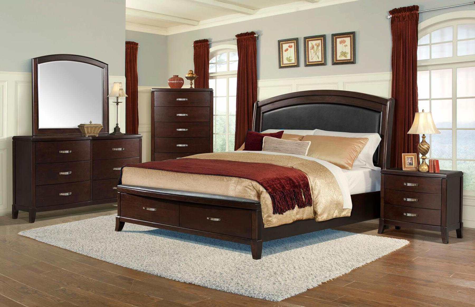 Delaney 6 piece bedroom set gonzalez furniture - How to furnish a small bedroom ...