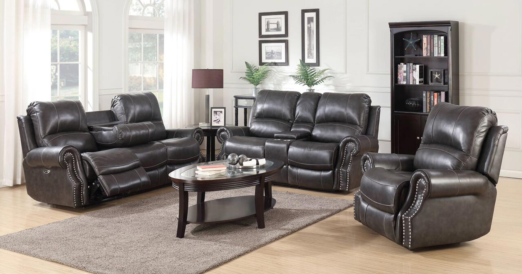 Emerson 3 piece living room set gonzalez furniture for 3 piece living room furniture