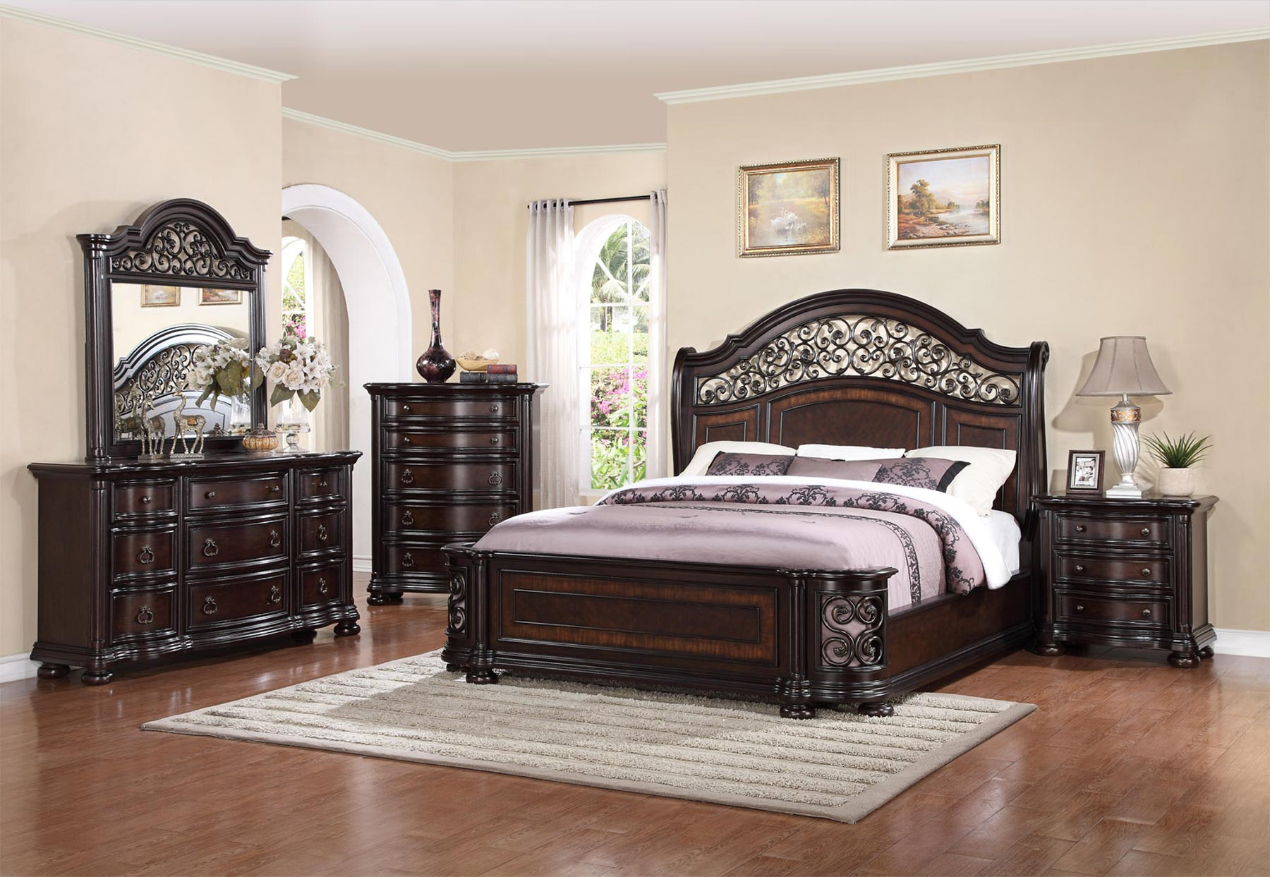 Allison 6 Piece Bedroom Set | Gonzalez Furniture