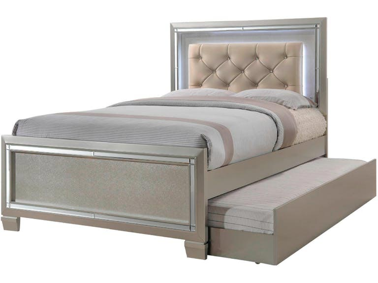 Platinum Youth 6 Piece Twin or Full Bedroom Set | Gonzalez ...