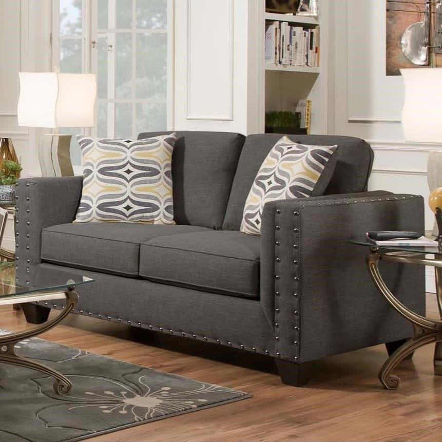 Smoke 2 Piece Living Room Gonzalez Furniture