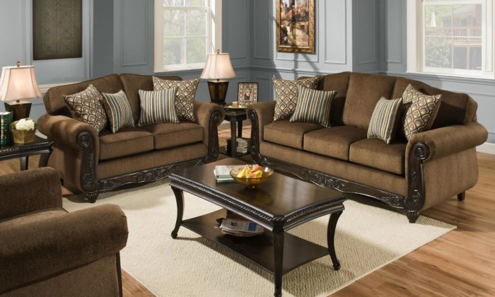 Charmant Bedford Bark 3 Piece Living Room Set