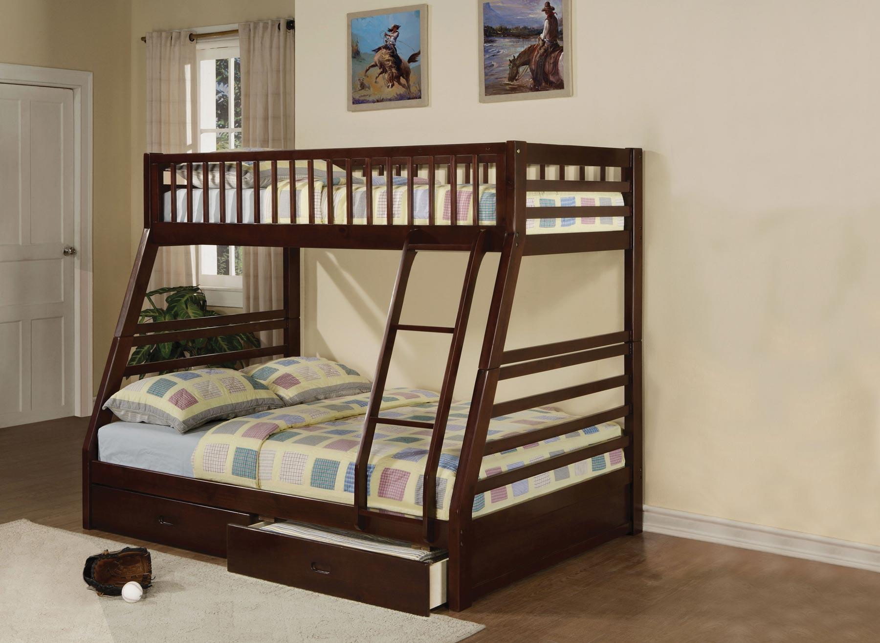 Jason Espresso Bunk Bed Gonzalez Furniture
