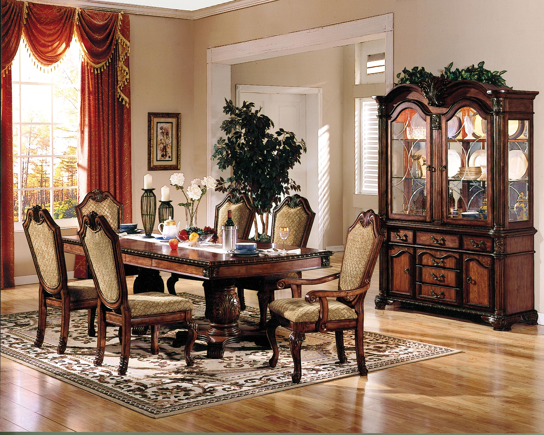 Chateau de ville 7 piece dining room set gonzalez furniture chateau de ville 7 piece dining room set dzzzfo