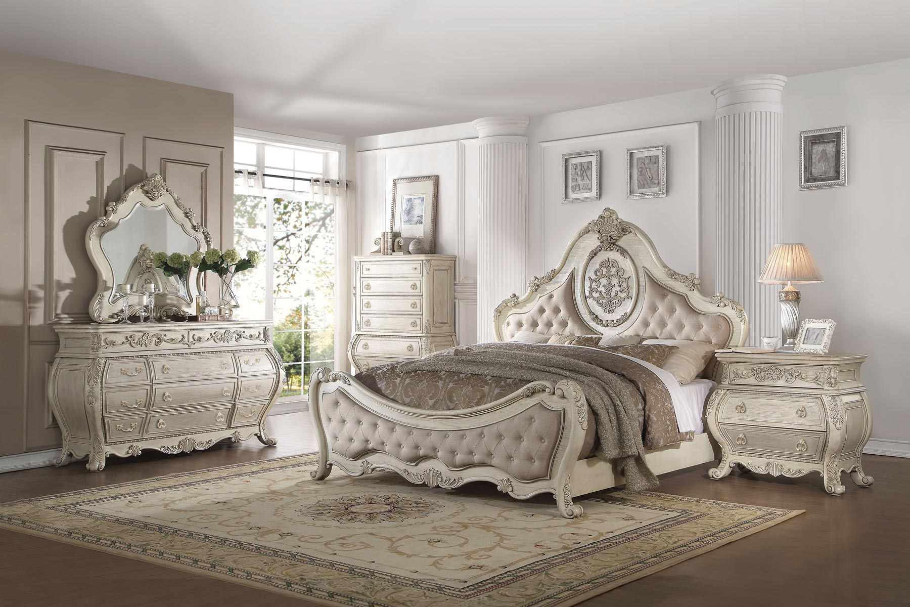 Sensational Ragenardus 6 Piece Bedroom Set Gonzalez Furniture Home Remodeling Inspirations Genioncuboardxyz