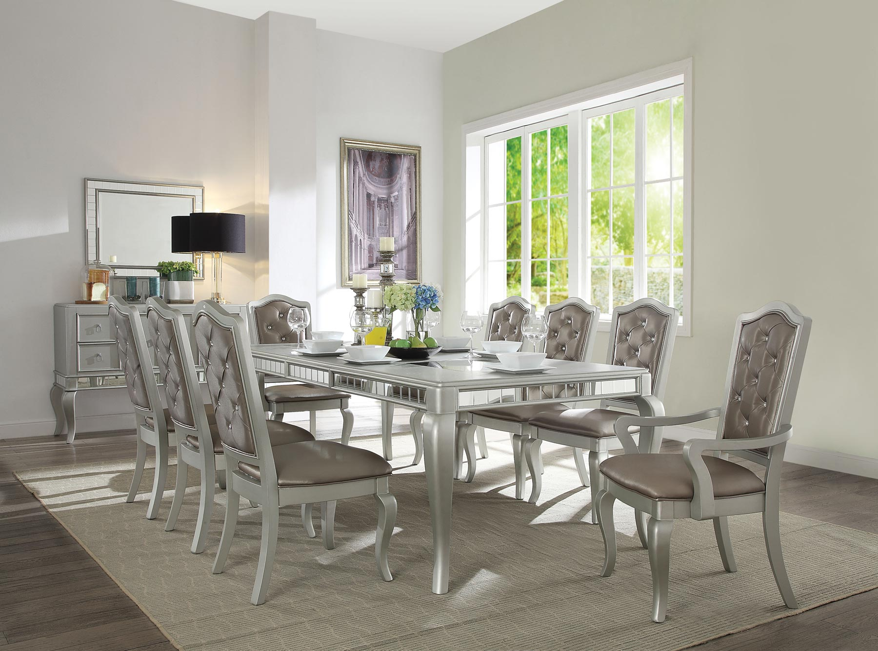 Francesca 7 Piece Dining Room Set By Acme Furniture