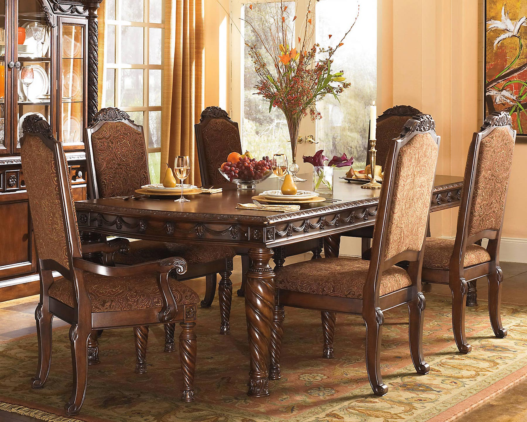North Shore 7 Piece Dining Room Table Gonzalez Furniture