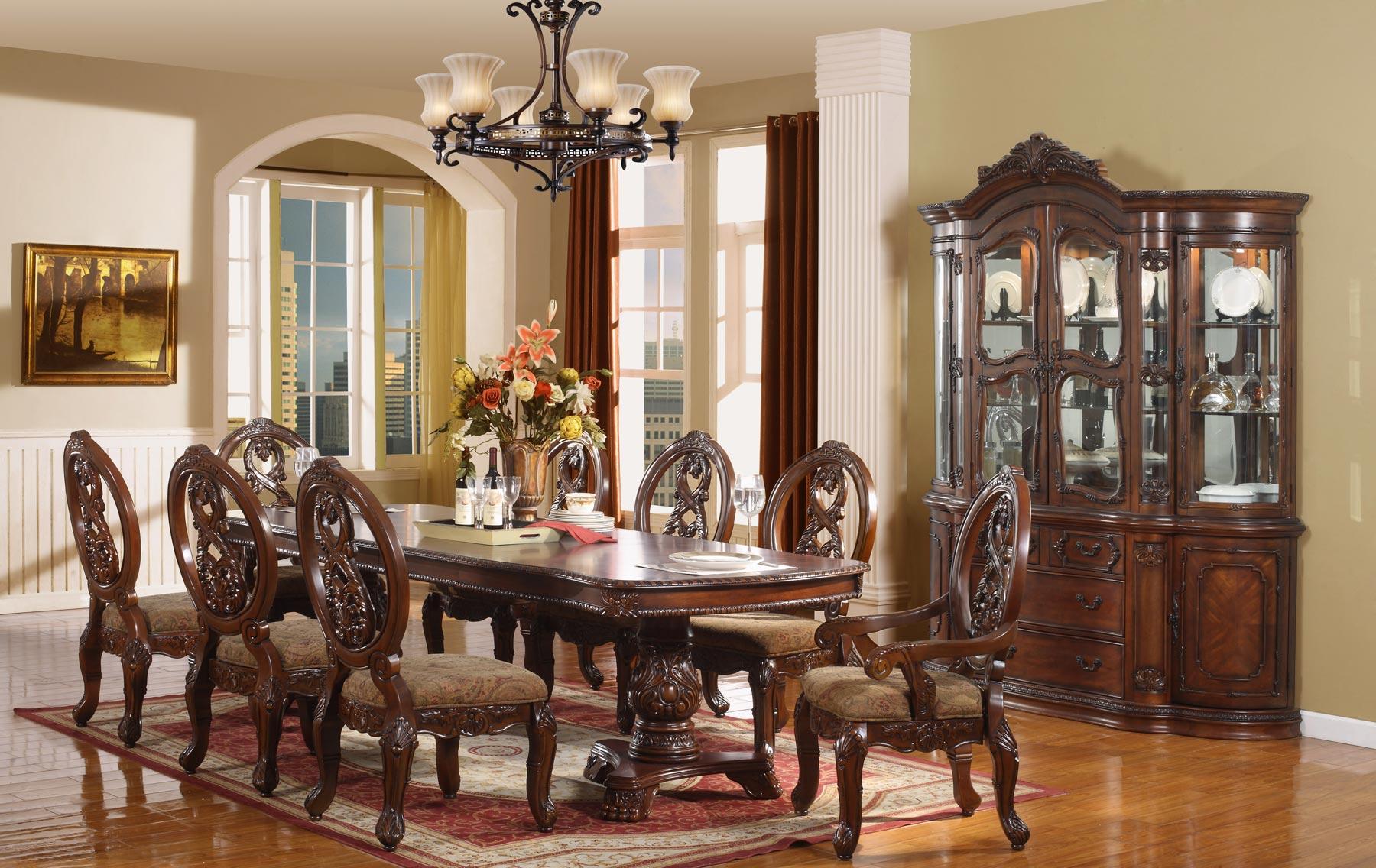 Gambia 7 Piece Dining Room Set | Gonzalez Furniture