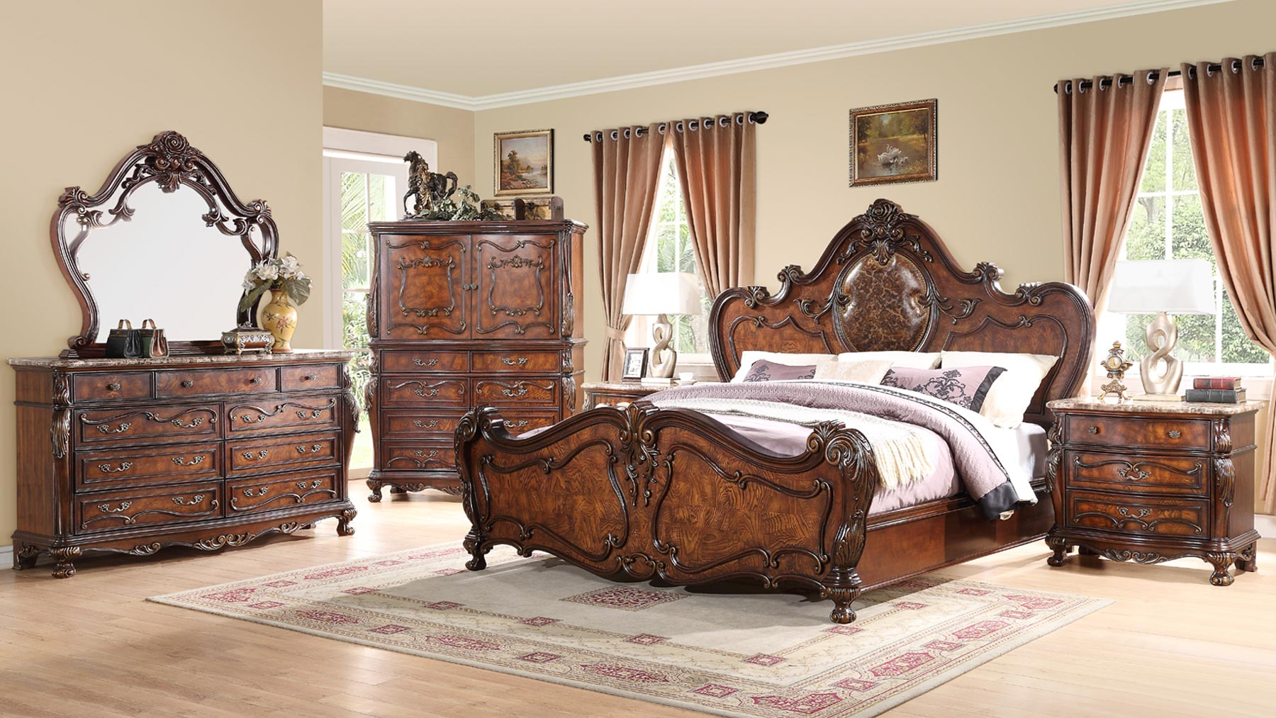 Romance 6 Piece Bedroom Set Gonzalez Furniture