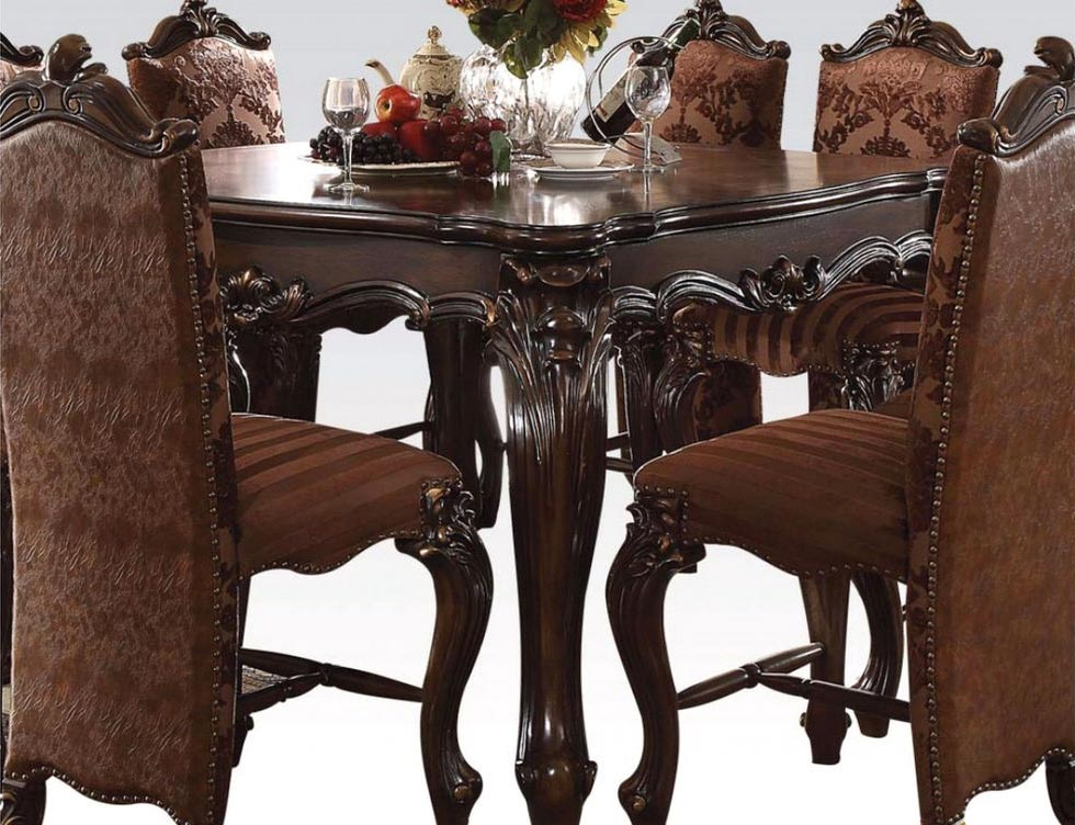 versailles counter height table 7 piece dining room set gonzalez furniture. Black Bedroom Furniture Sets. Home Design Ideas
