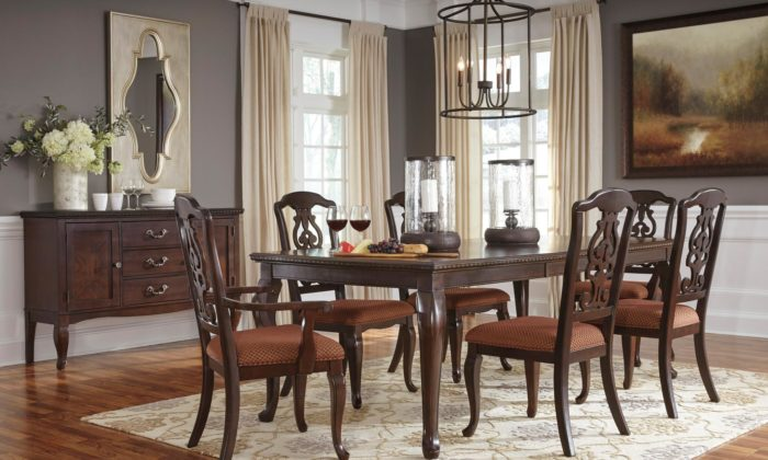 8 piece dining room set solid wood gladdenville piece dining room set archives gonzalez furniture