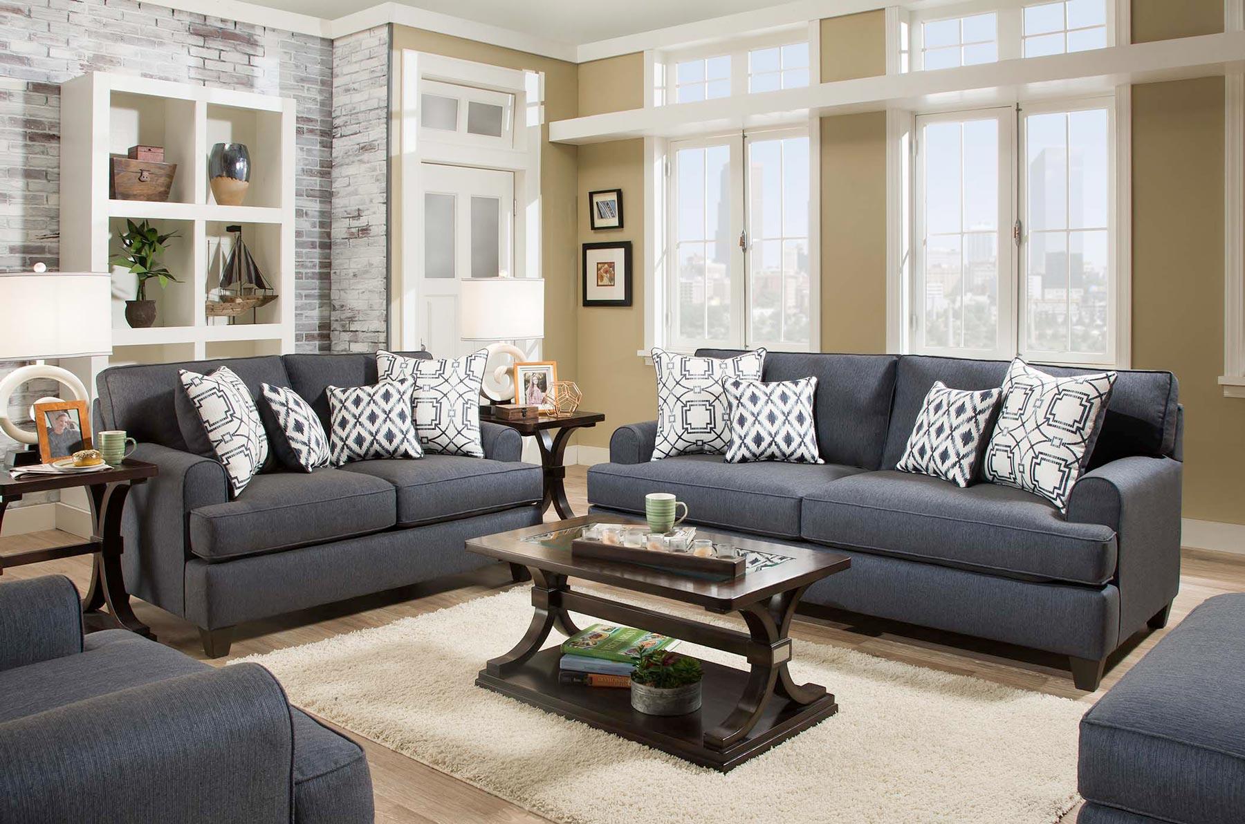 Wicked Navy 2 Piece Living Room Set | Gonzalez Furniture