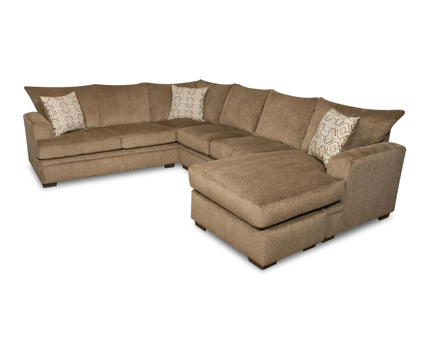 Cornell sectional sofa with right side chaise gonzalez for Sectional sofa with right side chaise