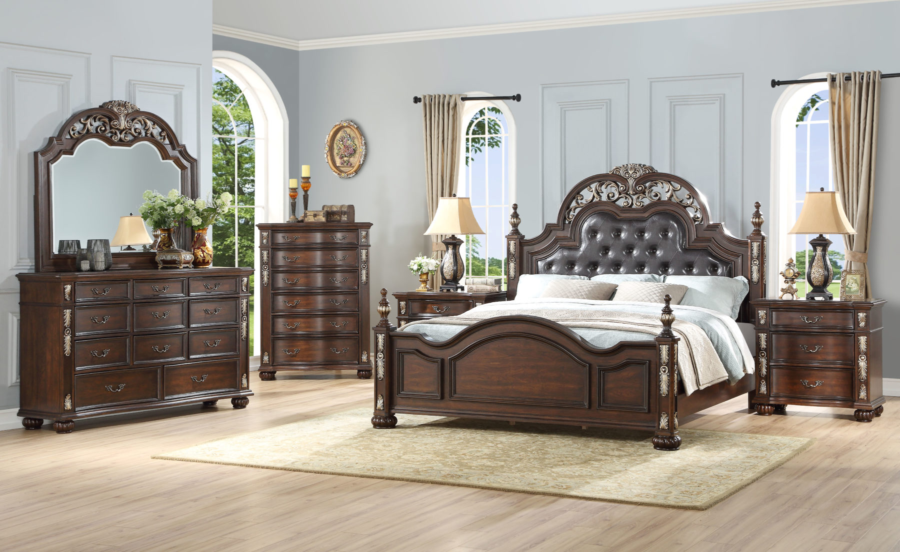 Maximus 6 Piece Bedroom Set | Gonzalez Furniture