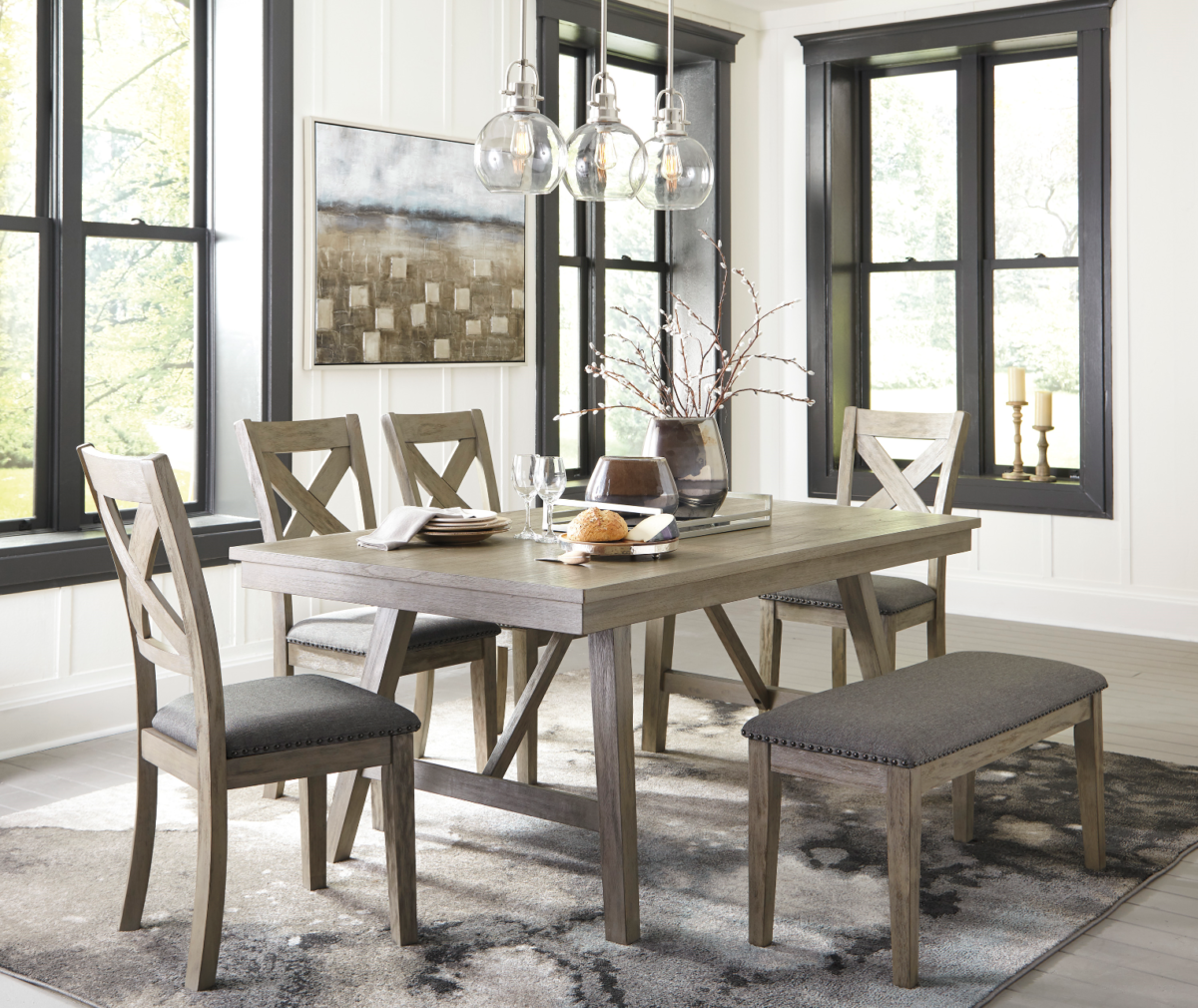 Dining Table 6 pc. D617-45 New