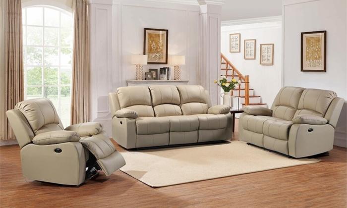 Winnfield 3 piece living room set Leather Italia